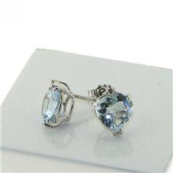 Nostre creazioni orecchini acquamarina 4966-s3 in oro con diamanti