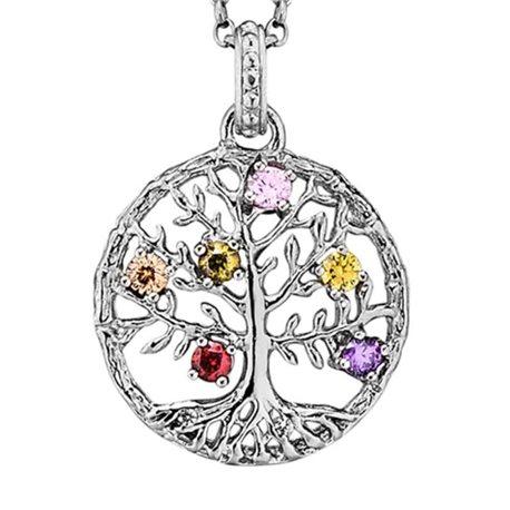 Julie Julsen silver pendent jj7960-1 crystal tree