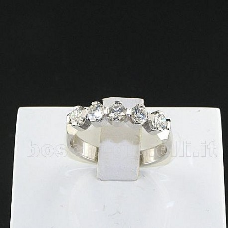 OUR CREATIONS ring riviere diamonds bosmont3369