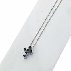 Nostre creazioni ciondolo croce zaffiri blu bosmont-cr-cio