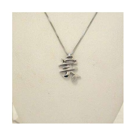 CHINESE SYMBOL cin06 jewelry gld diamond