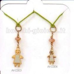 Ambrosia akc003 ciondolo oro le vanitose per bambine