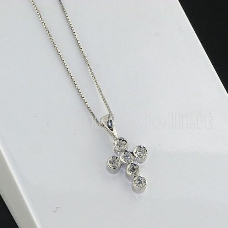 OUR CREATIONS chain with pendent cross collection bosmont993