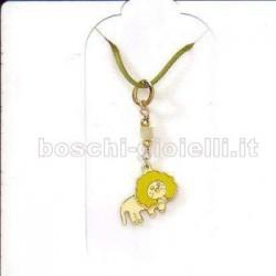 Ambrosia akc015 ciondolo oro teodoro il leone per bimbi