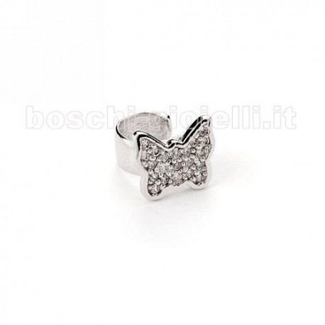 MOOD EAR CUFFS or-mp-5063sx butterfly collection silver with zircons