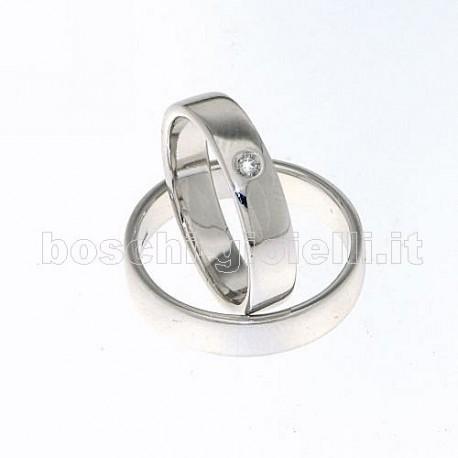 LuiLei fl141 fedi nuziali argento oro platino