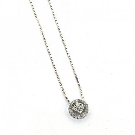 OUR CREATIONS chain with pendent eternity collection