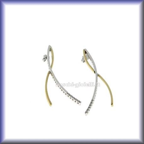 OUR CREATIONS earrings diamonds collection 29306 in gold 18 karat
