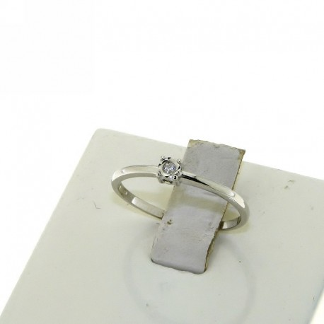 OUR CREATIONS solitaire diamond engagement ring 4985-2 white gold