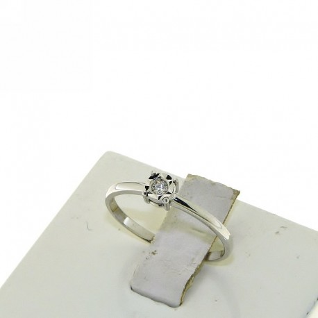 OUR CREATIONS solitaire diamond engagement ring 4985-3 white gold