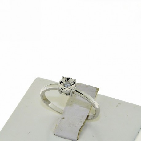 OUR CREATIONS solitaire diamond engagement ring 4985-5 gold 18k
