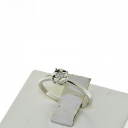 OUR CREATIONS solitaire diamond engagement ring 4985-6 gold 18k