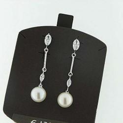 Ambrosia aop014 orecchini oro perle zirconi
