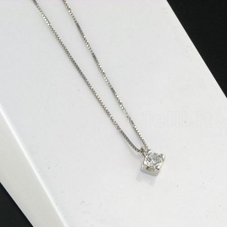 OUR CREATIONS chain with pendent solitaire diamond bosmont3842