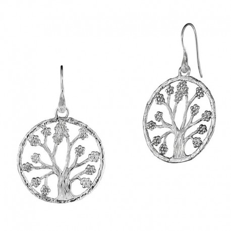 JULIE JULSEN silver earrings jjer8725-1 tree of life