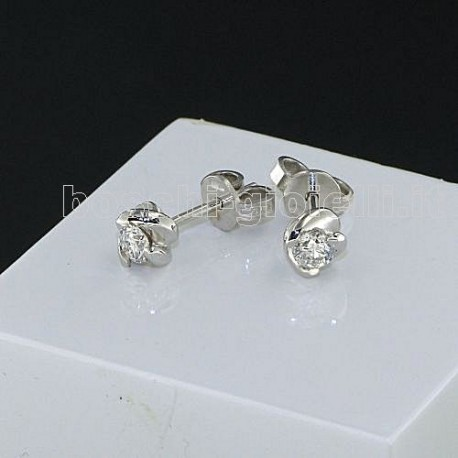 OUR CREATIONS jewelry earrings solitaire diamond mon3865