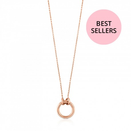 TOUS 712342520 sterling silver chain rose gold plated