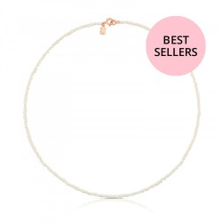 TOUS C712162570 necklace with pearls, sterling silver rose gold plated