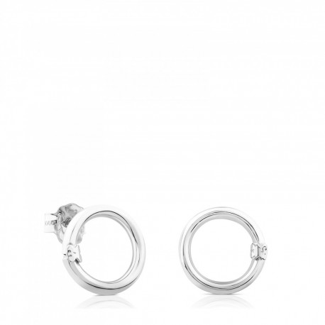 TOUS silver earrings 712343500 medallions collection