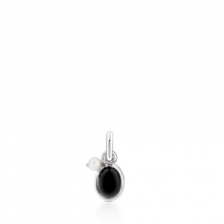 TOUS pendant 712314580 in silver tiny onyx and pearl