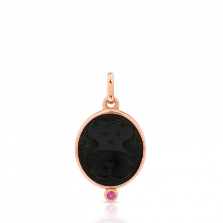 TOUS pendant camee 712324500 silver vermeil rose gold