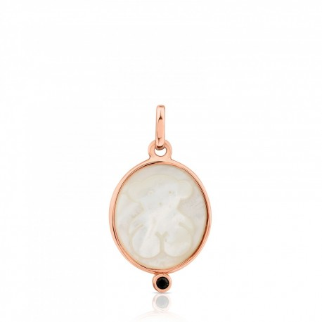 TOUS pendant camee 712324510 silver vermeil rose gold