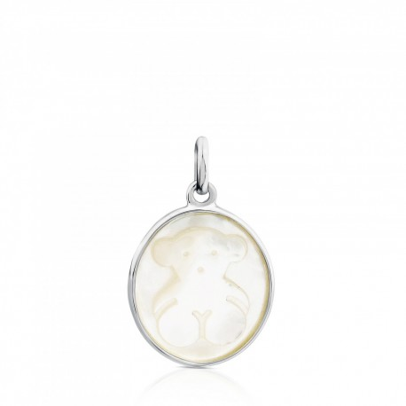 TOUS pendant camee 712324570 silver mother of pearl