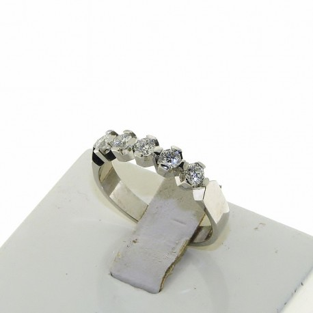 OUR CREATIONS ring riviere with 5 natural diamonds DAN3369-50