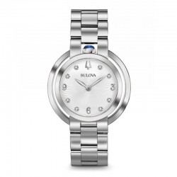 Bulova 96P184 orologio acciaio diamanti