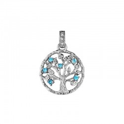 JULIE JULSEN Julie julsen TREE OF LIFE pendant JJPE0250-9 with zircons