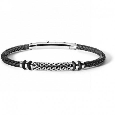COMETE ubr 625 bracelet net collection in steel rubber