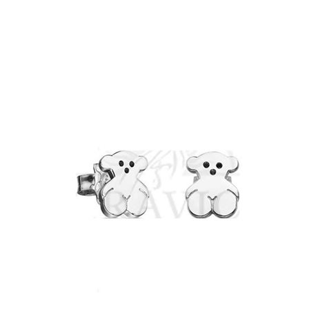 TOUS silver earrings 415903500 basics collection