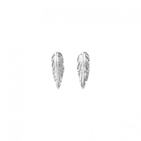 UNO de 50 pen0598mtl0000u pendent earrings Feather collection
