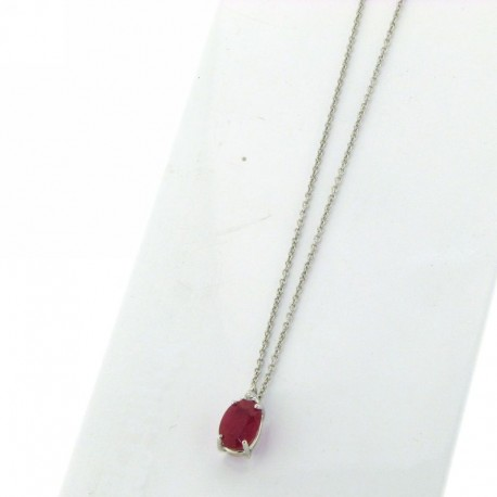 OUR CREATIONS chain with pendent ruby and diamond ci5642r01