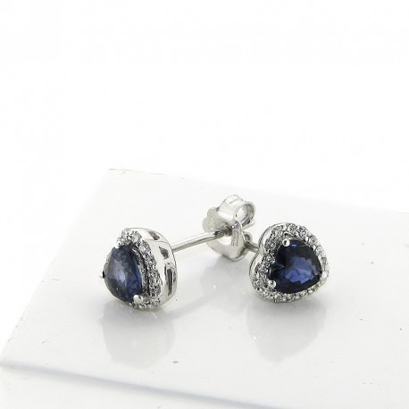 OUR CREATIONS earrings sapphire and diamonds collection or031z16