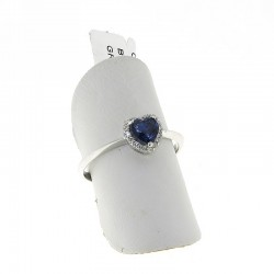 OUR CREATIONS ring collection treated blue sapphire and diamonds an3031z08