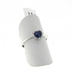 Nostre creazioni anello cuore con zaffiro blu diamanti an3031z08