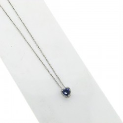 OUR CREATIONS pendent blue sapphire diamonds ci5031z08