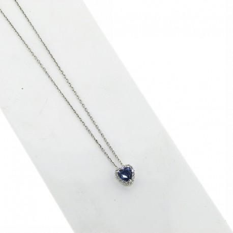 OUR CREATIONS pendent blue sapphire diamonds ci5031z08
