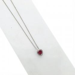 Nostre creazioni ciondolo rubino diamanti ci5031r08
