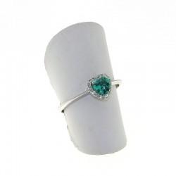 Nostre creazioni anello cuore con smeraldo diamanti an3031s08