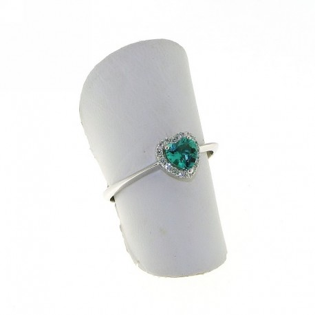 OUR CREATIONS ring collection treated emerald and diamonds an3031s08