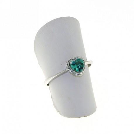 cercare disponibilità nel Regno Unito qualità eccellente anello cuore con smeraldo diamanti an3031s08 negozio reggio emilia