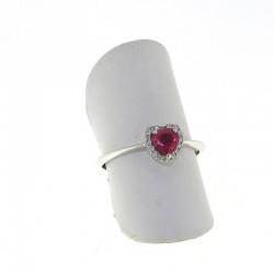Nostre creazioni anello cuore con rubino diamanti an3031r08