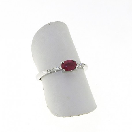 OUR CREATIONS ring collection treated ruby and diamonds an03662r05
