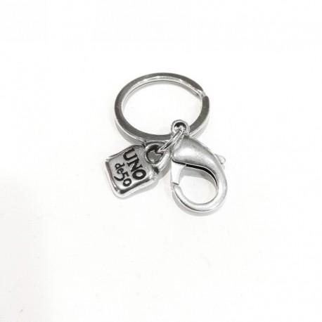 UNO DE 50 LLA0214MTL key ring for initials