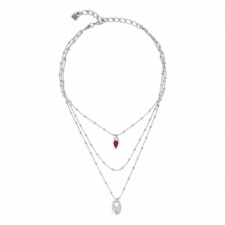 Necklace Uno de 50 Dazzled collection col1342rojmtl0u