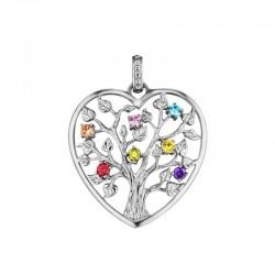 Julie Julsen Ciondolo cuore JJPE0226-1 albero della vita in argento