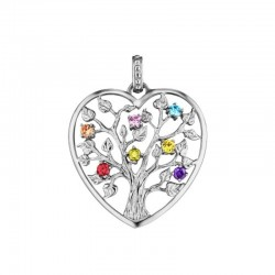 Julie Julsen heart pendent JJPE0226-1 TREE OF LIFE in silver