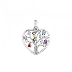 Julie Julsen Ciondolo cuore JJPE0235.1 albero della vita in argento